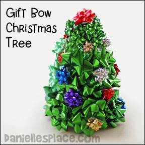 Gift Bows Christmas Tree Craft