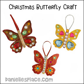 Christmas Butterfly Ornament Craft