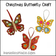 Paper Butterfly Ornament Craft