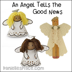 Angel Christmas Crafts and Bible Lesson from www.daniellesplace.com