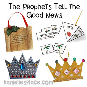 Christmas Crafts - The Prophets Tell the Good News Bible Lesson Crafts for Sunday School from www.daniellesplace.com