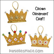 Crown Ornament Craft for Christmas from www.daniellesplace.com