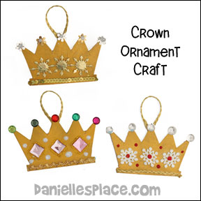 christmas crown ornmament craft for christmas bible lesson the prophets tell about jesus from www