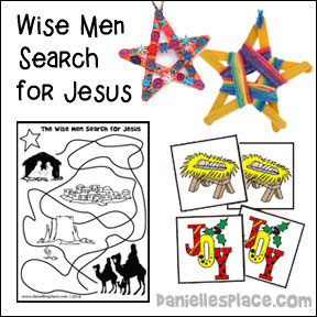The Story of Christms Bible Lesson and Crafts from www.daniellesplace.com