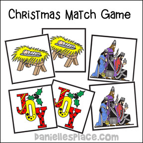 Christmas Match Game for Sunday School