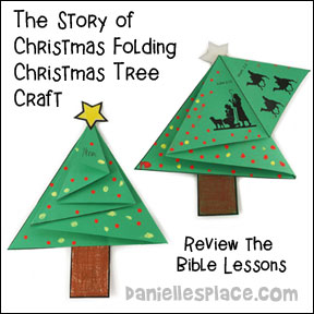 """The Story of Christmas"" Folding Christmas Tree Card Craft from www.dnaiellesplace.com"