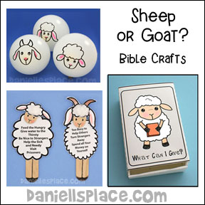Goat or Sheep Bible Crafts and Games for Sunday School and Children's Ministry from www.daniellesplace.com