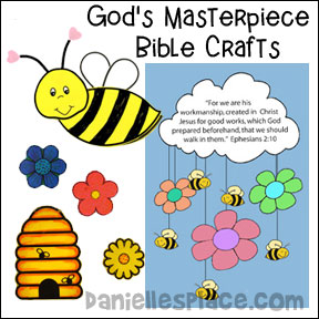 s Masterpiece Sunday School Lesson and Bible Crafts from www.daniellesplace.com