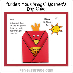 """Under Your Wings"" Mother's Day Card Craft for Children"