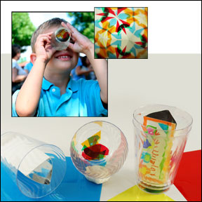 Super Simple Kaleidoscope Cup Craft for Kids from www.daniellesplace.com