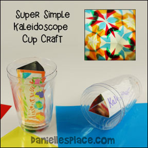 Super Simple Kaleidoscope Cup Craft from www.daniellesplace.com