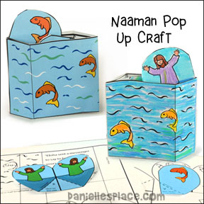 Naaman Popup Craft for Sunday School