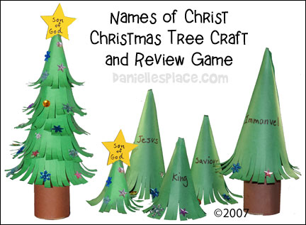 Name of Christ Christmas Reveiw Game and Craft from www.daniellesplace.com