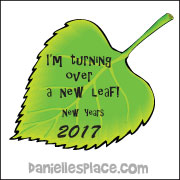 """I'm Turning Over a New Leaf"" Leaf-shaped book"