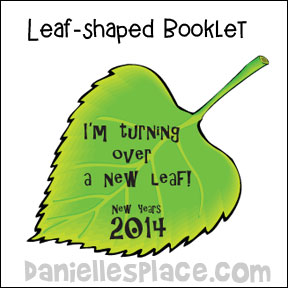 """Turning Over a New Leaf"" New Years Prinatable Booklet from www.daniellesplace.com"