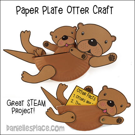 Sea Otter Paper Plate craft