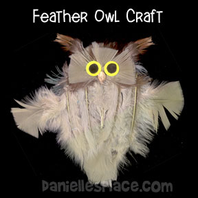 Great Horned Owl Craft Made with Real Feathers from www.daniellesplace.com