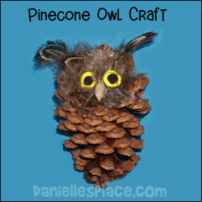 Pinecone Great Horned Owl Craft for Kids from www.daniellesplace.com