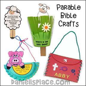 Parable Bible Crafts for Children's Ministry from www.daniellesplace.com