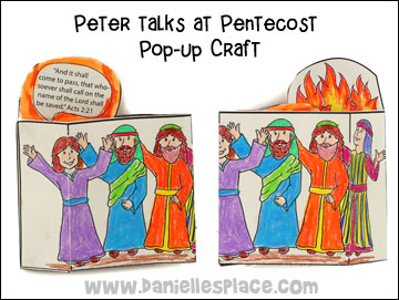 Peter Talks at Pentecost Pop-up Craft