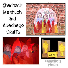 Shadrach, Meshach, and Abednego in the Fiery Furnace Bible Crafts