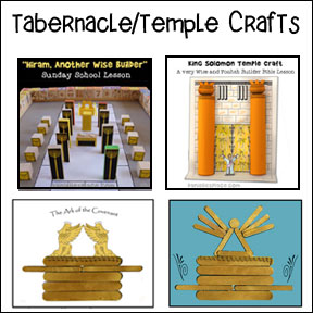 Tabernacle and Temple Bible Crafts for Children's Ministry