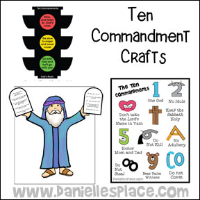 Ten Commandment Crafts from www.daniellesplace.com