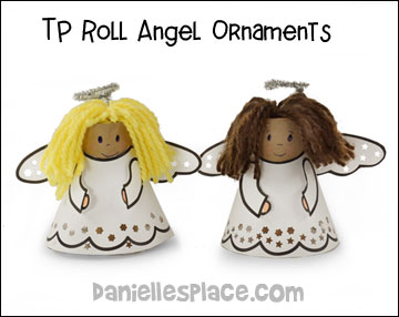 "TP Roll Angel Ornaments for ""The Story of Christmas"" Bible Lesson on www.daniellesplace.com"