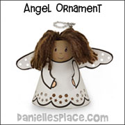 TP Roll Angel Ornament Christmas Craft from www.daniellesplace.com