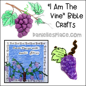 Vine and Branches Bible Crafts and Activities for Children's Ministry from www.daniellesplace.com