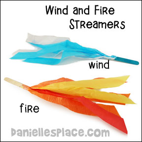 Wind and Fire Streamers Craft and Activity from www.daniellesplace.com