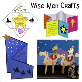 Wise Men Crafts and Games for Christmas Children's Ministry