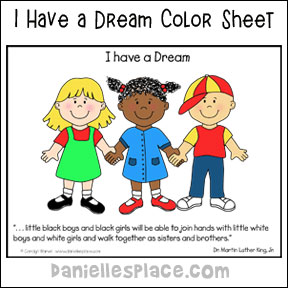 """I have a Dream"" Coloring Sheet with Bible verse or Quote from Martin Luther King, Jr."