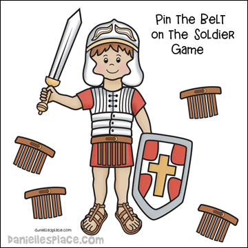 Pin the Belt on the Roman Soldier Game