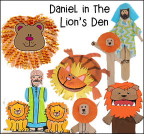 Daniel and the Lion Bible Crafts for Kids from www.daniellesplace.com