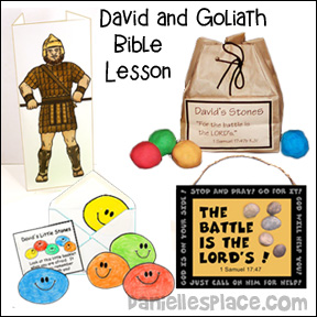 David and Goliath Bible Lesson for Children from www.daniellesplace.com