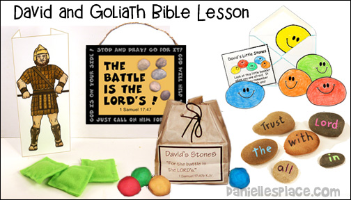 David and Goliath Bible Lesson from www.daniellesplace.com