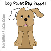 Dog Paper Bag Puppet Craft from www.daniellesplace.com