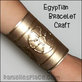 Egyptian Bracelet Craft from www.daniellesplace.com