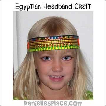 Egyptian Headband Craft for Children from www.daniellesplace.com