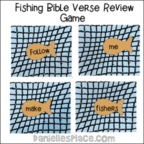 Fishers of men bible crafts for Bible verses about fish