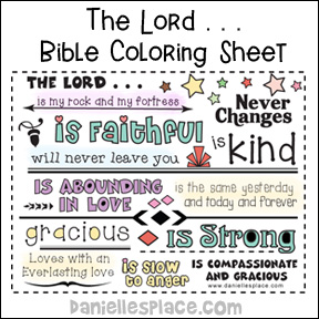 The Lord is . . . Coloring Sheet