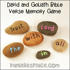 David and Goliath Bible Verse Review Game from www.daniellesplace.com