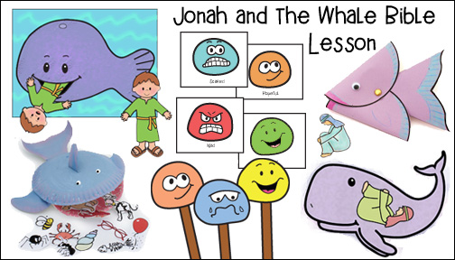 Jonah and the Whale Sunday School lesson for Children from www.daniellesplace.com