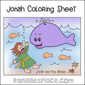 Jonah and the Whale Coloring Sheet from www.daniellesplace.com