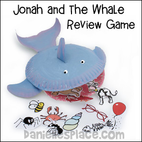 Jonah and the Whale Review Game with Paper Plate Whale from www.daniellesplace.com