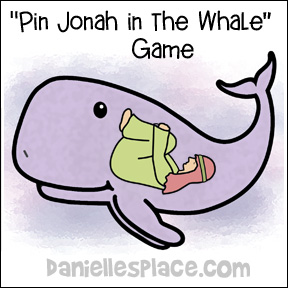 """Pin Jonah in the Whale"" Bible Lesson Review Game from www.daniellesplace.com"