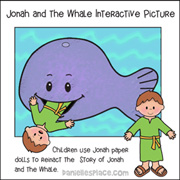 Jonah and the Whale paper doll activity from www.daniellesplace.com