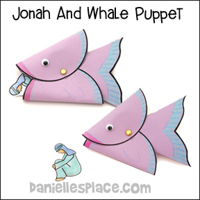Whale Puppet Bible Craft And Learning Activity For Jonah The