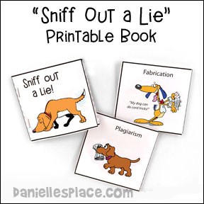 Sniff Out a Lie Itty Bitty Coloring Book for Watchdog Bible Lessons from www.daniellesplace.com